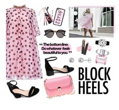 """""""Step Up: Block Heels"""" by blacksky000 ❤ liked on Polyvore featuring Valentino, Illesteva, Casetify, Versace, L.A. Girl and Rosendahl"""