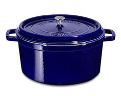 Staub Round Cocotte, 9 qt., blue