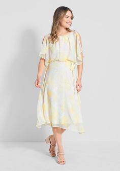 Fruit dress Search Results | ModCloth Plus Size Retro Dresses, Cool Outfits, Fashion Outfits, Mid Length Skirts, White Midi Dress, Hippie Style, Flutter Sleeve, Modcloth, Retro Fashion