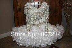 Wholesale-2013 Organza Dresses National Glitz Pageant Dress Stunning Little Girl's Pageant Dresses $120.00