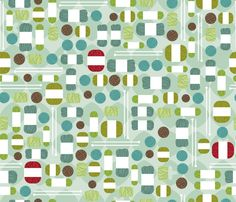 Mod Knitter fabric by cynthiafrenette on Spoonflower - custom fabric. Look closely.