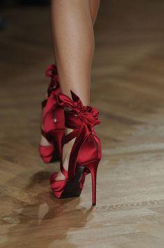Garnet evening shoes