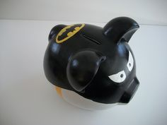 DIY Batman Piggy Bank