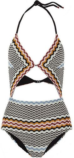 The perfect graphic print Missoni Cutout Crochet-Knit Swimsuit for Summer 2015