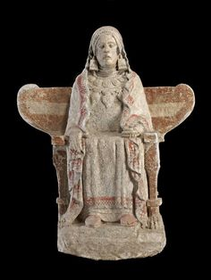 theancientwayoflife:   Lady of Baza.  Date: First half 4th century B.C.  Place of origin: Baza Granada Spain  Provenance: Cerro del Santuario necropolis tomb 155  Culture/Period: Iron Age Iberian
