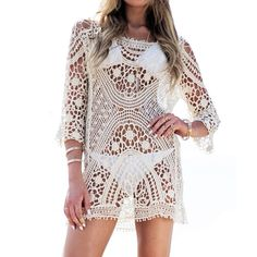 Lace & Cotton Swimming Cover Ups