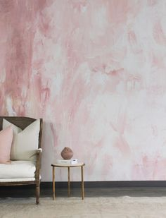 Ophelia Wall Mural - Beautiful Hand painted Wallpaper to Order today from UrbanWalls. Hand Painted Wallpaper, Hand Painted Walls, Painting Wallpaper, Pink Wallpaper For Walls, Ombre Painted Walls, Tropical Wallpaper, Wallpaper Murals, Bedroom Wall, Bedroom Decor