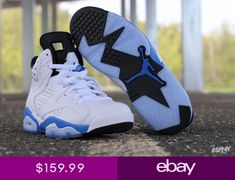 competitive price ba5b5 f714e Air Jordan 6 VI Retro Sport Blue Mens 384664-107 6 vi 4 iv 11 concord  cement iii