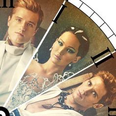 Peeta, Katniss, and Finnick Catching Fire. Oh my word, the clock!!! Do you understand the clock?!?