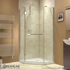 """Dreamline SHEN-2034340 Prism-X 72"""" High x 34-3/8"""" Wide x 34-3/8"""" Deep Hinged Fra Chrome Showers Shower Enclosures Neo Angle"""