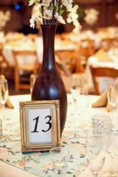 Centerpiece table numbers.