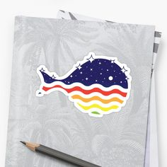 Night Life in the Ocean, a whale fish design. Fish Design, Cool Stickers, Night Life, Whale, Finding Yourself, Ocean, Artists, Cool Stuff, Unique