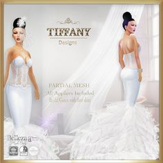 W TD Diva Bridal Gown - Appliers  White