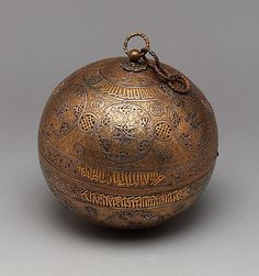 Pierced Globe                                                                                      Object Name:                                        Incense burner                                                          Date:                                        late 13th–early 14th century                                                          Geography:                                        Syria, Damascus