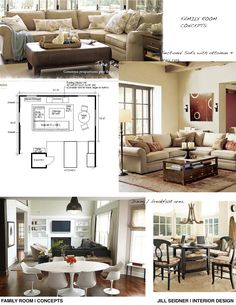 Concept ideas for a family room/breakfast room.
