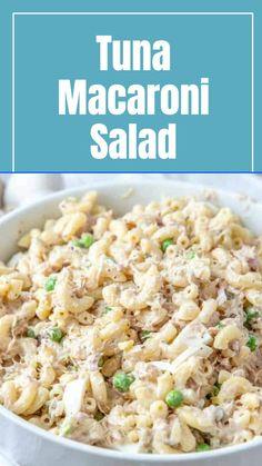 Tuna Macaroni Salad, Tuna Salad, Pasta Salad Recipes, Seafood Recipes, Dinner Recipes, Clean Eating Recipes, Cooking Recipes, Healthy Recipes, Tastey Recipe