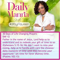 Daily Manna #196 THIRTY DAYS OF LIFE CHANGING PRAYERS DAY 12