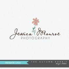 Premade Photography Logo and Watermark Design - Photography or Boutique Logo - Glitter Daisy Logo - Business Branding
