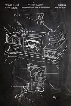 Blade Runner Voight Kampff Fantasy Art Patent by thepatentoffice