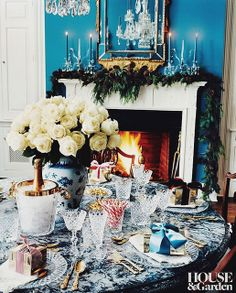 {décor inspiration | blue & white and holiday traditions}