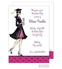 Bonnie Marcus | Graduation | Gorgeous Grad (Brunette) Invitation (BM) | Available at Note Worthy
