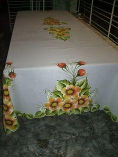 toalhas de mesa pintadas à mão 2,50m x 1,50m tecido oxiford!