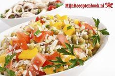 Koude vruchten rijstsalade recept