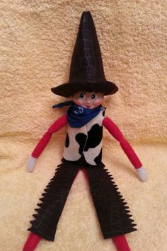 THE ELF ON THE SHELF~Cowboy Elf Outfit by CrazyElfinMomma on Etsy