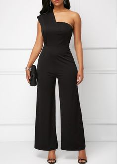 d86ead9ab2a84 black Jumpsuits & Rompers For Women Online Shop Free Shipping |  Rosewe.com One