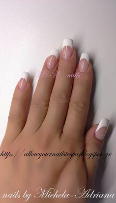 φυσική ενίσχυση, γαλλικό, nai art, french manicure, gel,