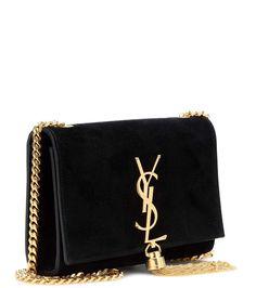 Classic Small Monogram black suede shoulder bag