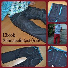 Kalhoty | střih (vel. 92-128cm) + návod | de