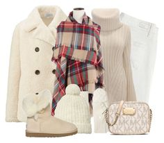 """""""Winter White"""" by cavell ❤ liked on Polyvore featuring Uniqlo, Paige Denim, Alexander McQueen, Brooks Brothers, Scotch & Soda, UGG Australia, MICHAEL Michael Kors, women's clothing, women and female"""