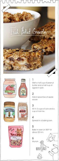 RECIPE: Fresh Baked Granola {vegan} #recipe #vegan #granola