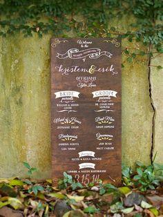 Wedding Program on wood! Created by @honey bee Bee Invites
