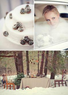 winter wedding colors #winterweddingcolors  #whitechocolateevergreenweddingcolors