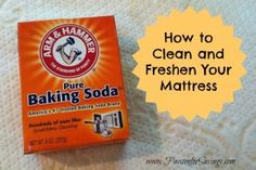Mattress need a freshening up? Find out how to easily Clean and Freshen your mattress!
