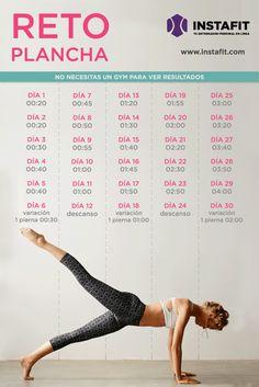 Abdomen marcado en 30 días con esta rutina de ejercicios de plancha.