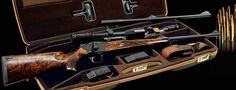 Blaser R8, full kit with travel case, two interchangeable barrels for different hunting requirements. From about $5k for the rifle only, $8-20 for these fancy kits.