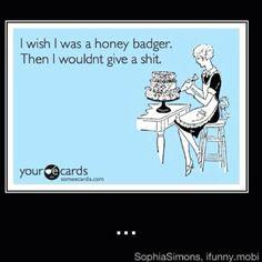 Honey badger... Hahaha