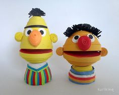 Bert and Ernie made from paper using 3D Quilling techniques!