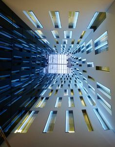 View looking up from the main lobby of Hotel Ayre by Wortmann Architects + Guillermo Banares Arquitectos + Carlos Narvaez