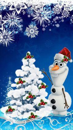 Wallpaper Disney - olaf - Wildas Wallpaper World Disney Merry Christmas, Frozen Christmas, Christmas Pictures, Christmas Art, Frozen Wallpaper, Disney Wallpaper, Iphone Wallpaper, Merry Christmas Wallpaper, Holiday Wallpaper