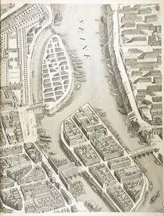 Vieux Paris avec le pont de la Tournelle