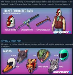 Hotline Miami 2 DLC for Payday 2