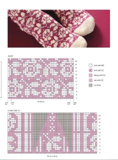 Tapestry Crochet Patterns, Fair Isle Knitting Patterns, Crochet Stitches Patterns, Knitting Charts, Knitted Mittens Pattern, Knit Mittens, Knitting Socks, Knitted Hats, Knit Or Crochet