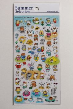 Cat Sticker Sheet | Animal Sticker Sheet - journaling, Letter Writing, Scrapbook - 78577