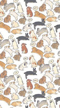 Rabbit Art, Pet Rabbit, Animal Drawings, Cute Drawings, Cute Wallpapers, Wallpaper Backgrounds, Animals And Pets, Cute Animals, Lapin Art