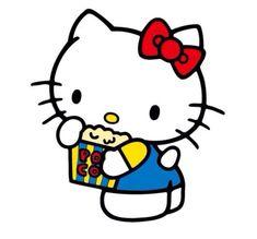 Hello kitty popcorn  #hello #Kitty #Popcorn Hello Kitty Nails, Cat Nails, Clip Art, Popcorn, Fictional Characters, Pictures