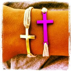 Crosses in many colors on hand. In two sizes small for kids and medium.
